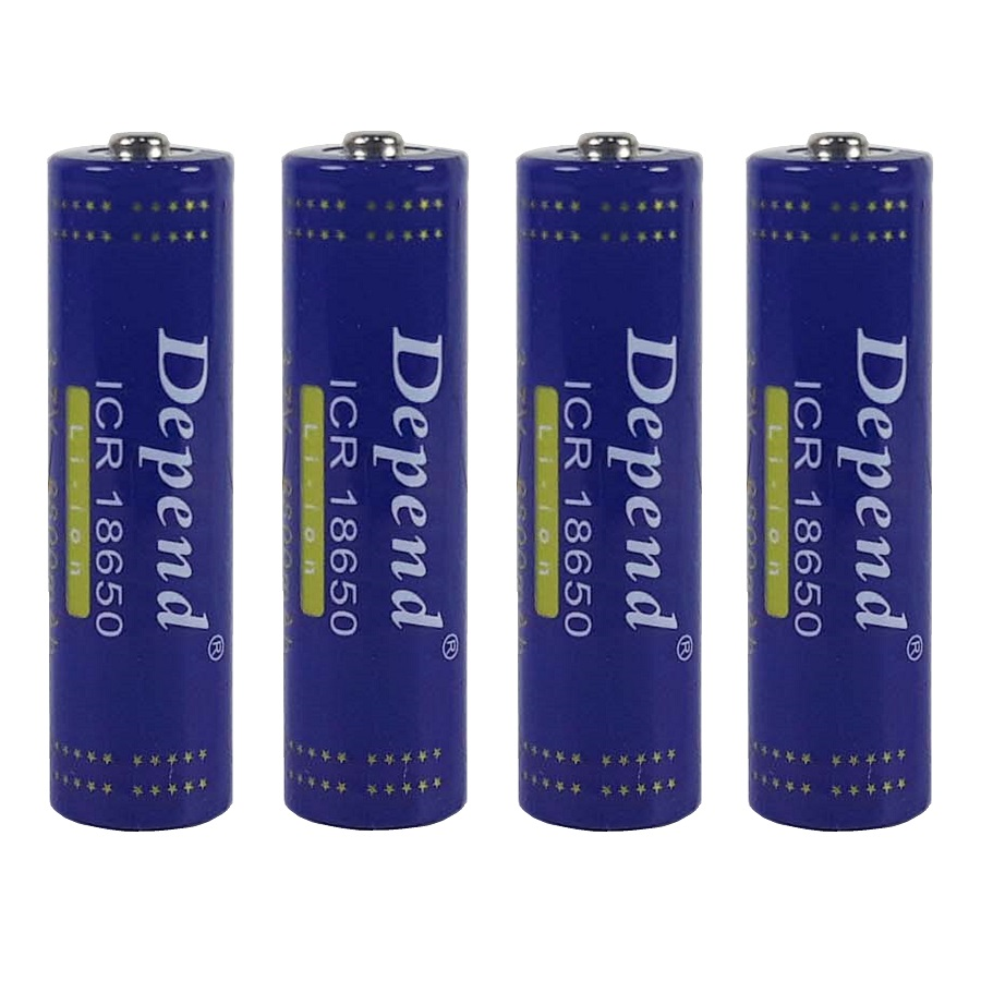 باتری لیتیوم یون قابل شارژ دیپند مدل ICR-18650 ظرفیت 8800 میلی آمپر ساعت  بسته 4 عددی