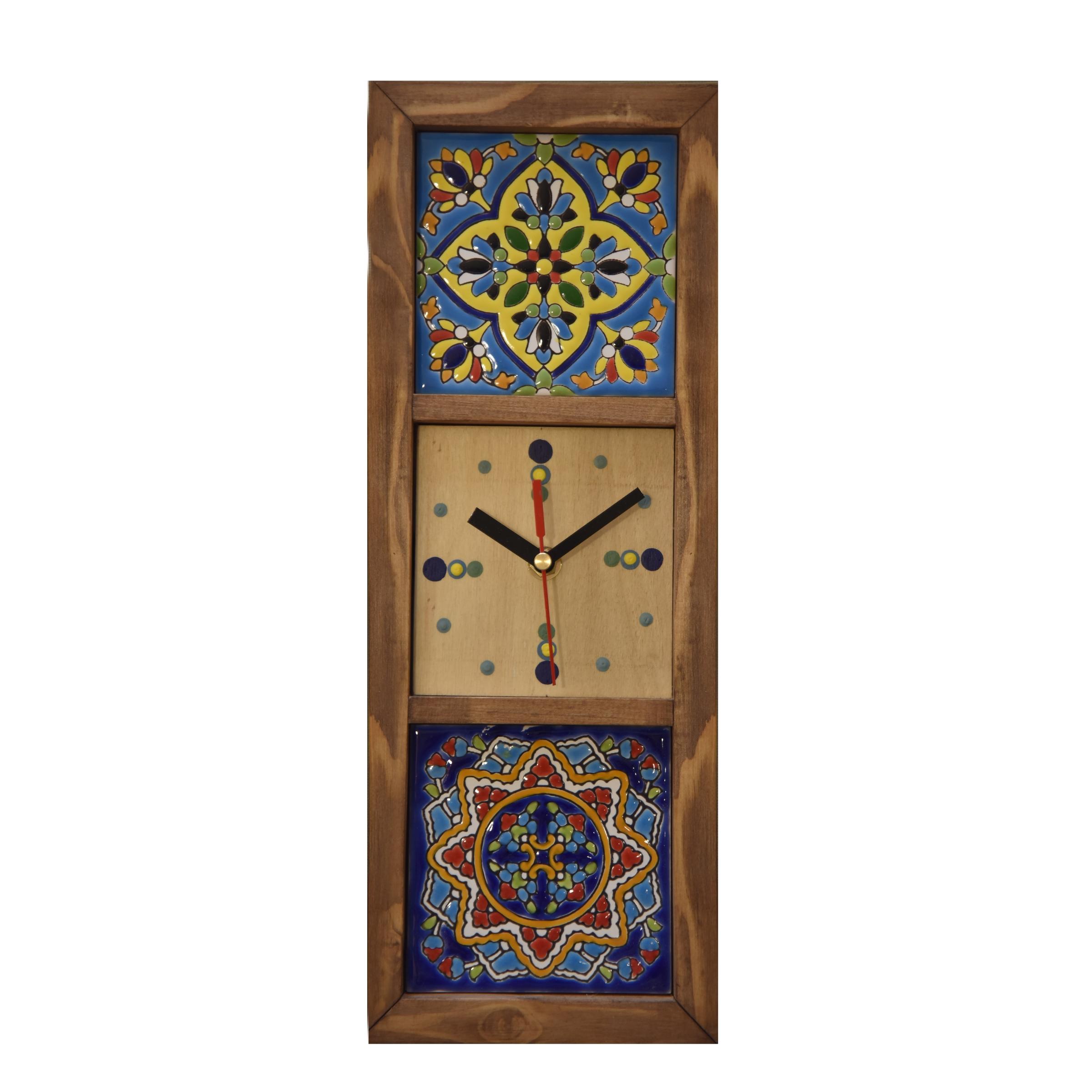 ساعت دیواری چوبی کد 12011