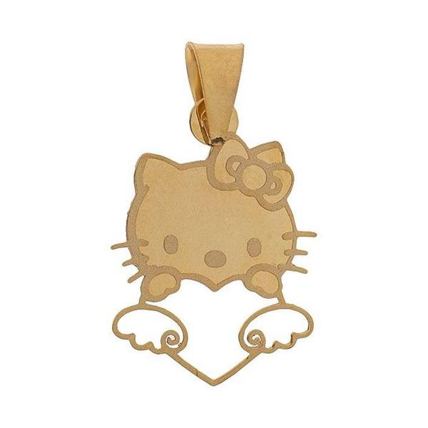آویز گردنبند طلا 18 عیار دخترانه زر لوکس طرح گربه کد zr47