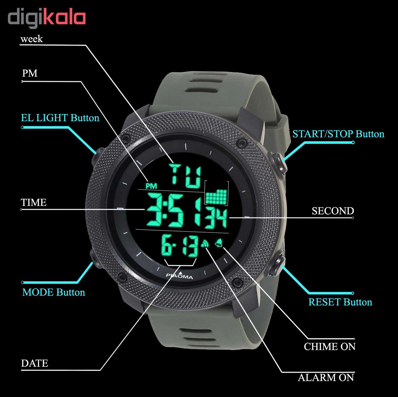 کد تخفیف                                      ساعت مچی دیجیتال مردانه پیائوما مدل P-4PG