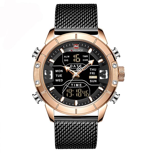 قیمت و خرید                      ساعت مچی عقربه ای مردانه نیوی فورس مدل  NF9153-RGB