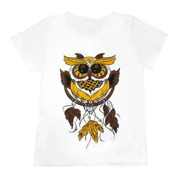 تی شرت زنانه مدل Owl Catcher کد 1214