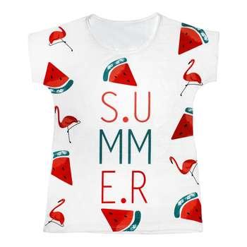 تی شرت زنانه مدل Summer Flamingo کد 1209