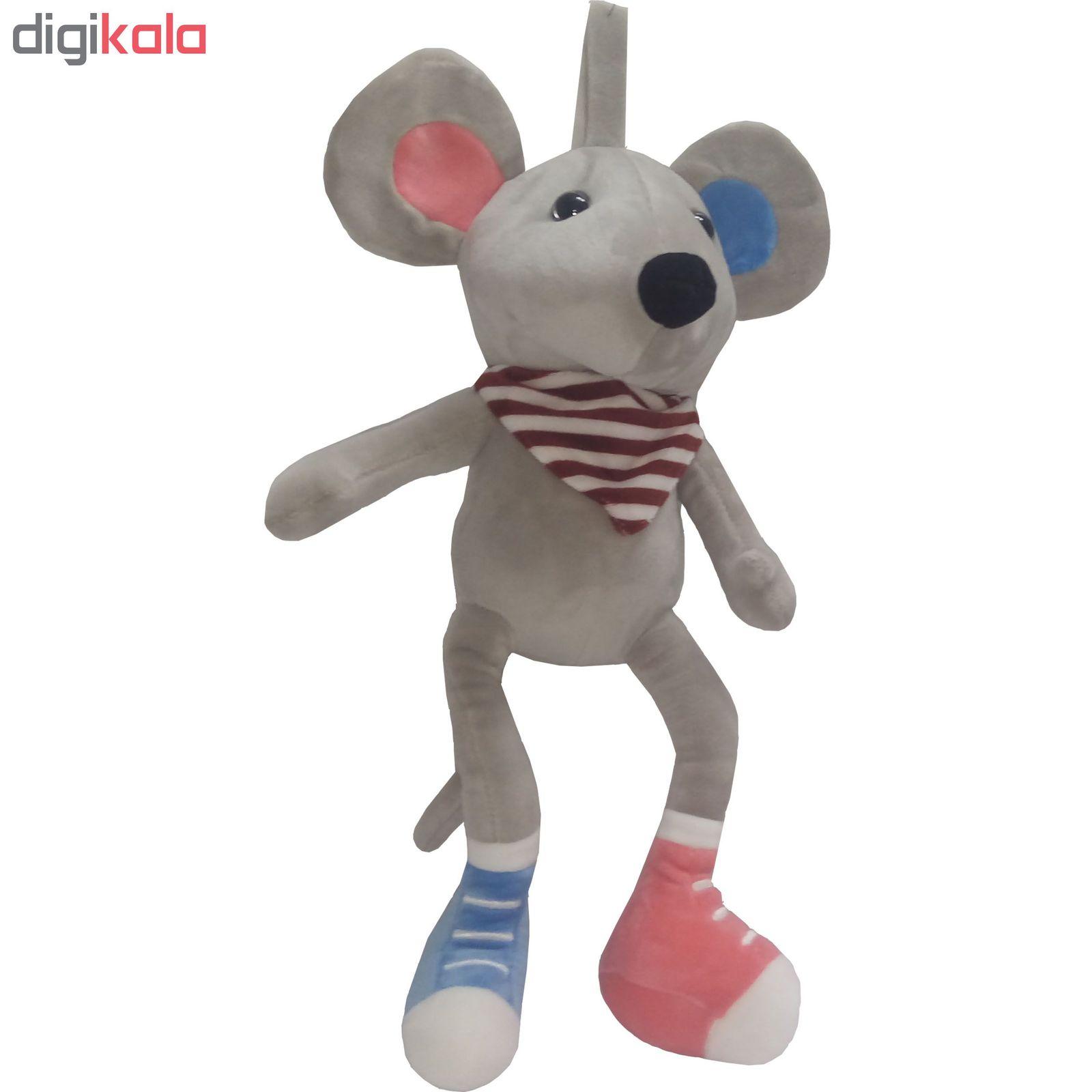 عروسک طرح موش کتونی دار ارتفاع 35 سانتی متر
