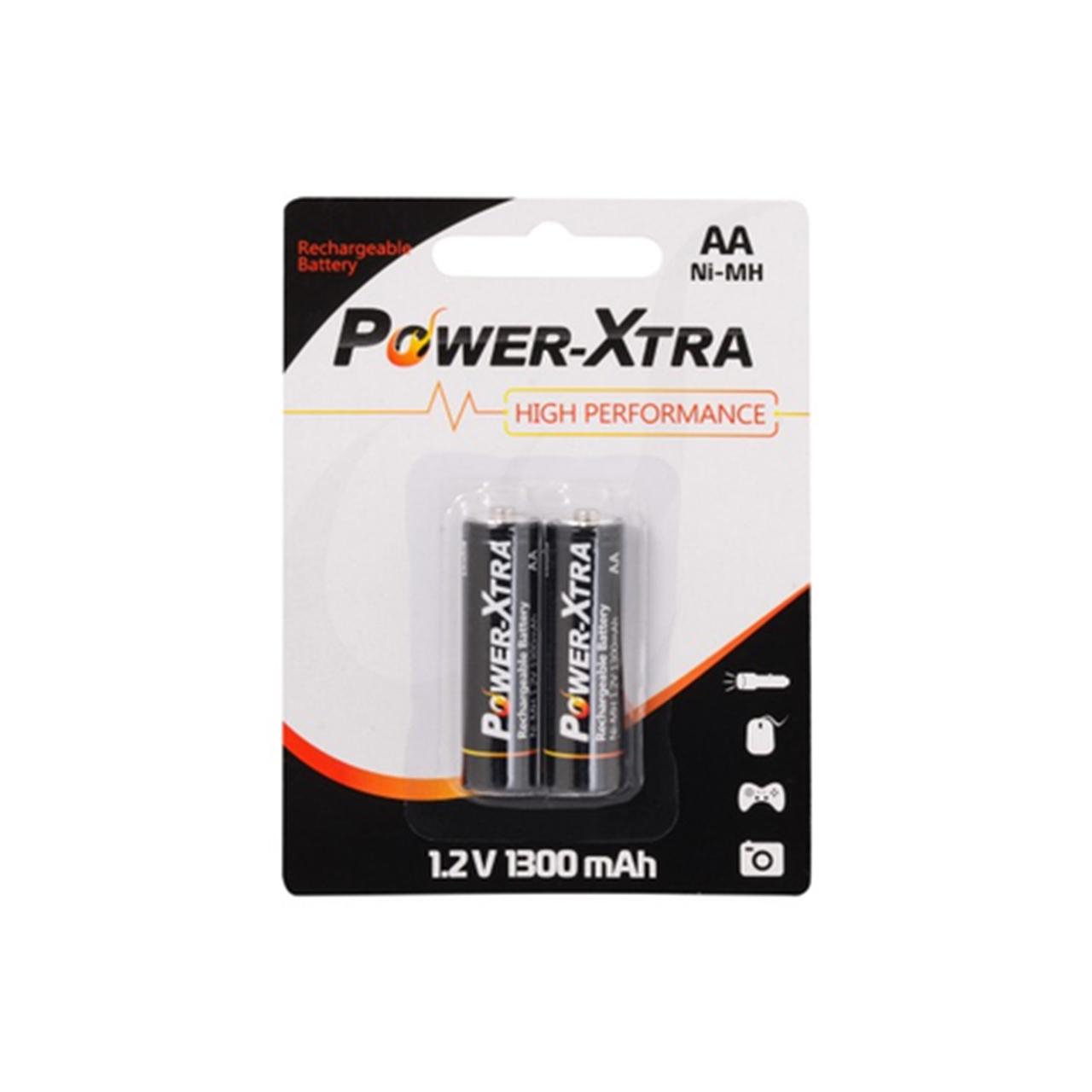 باتری قلمی قابل شارژ پاوراکسترا  مدل High Performance بسته 2 عددی
