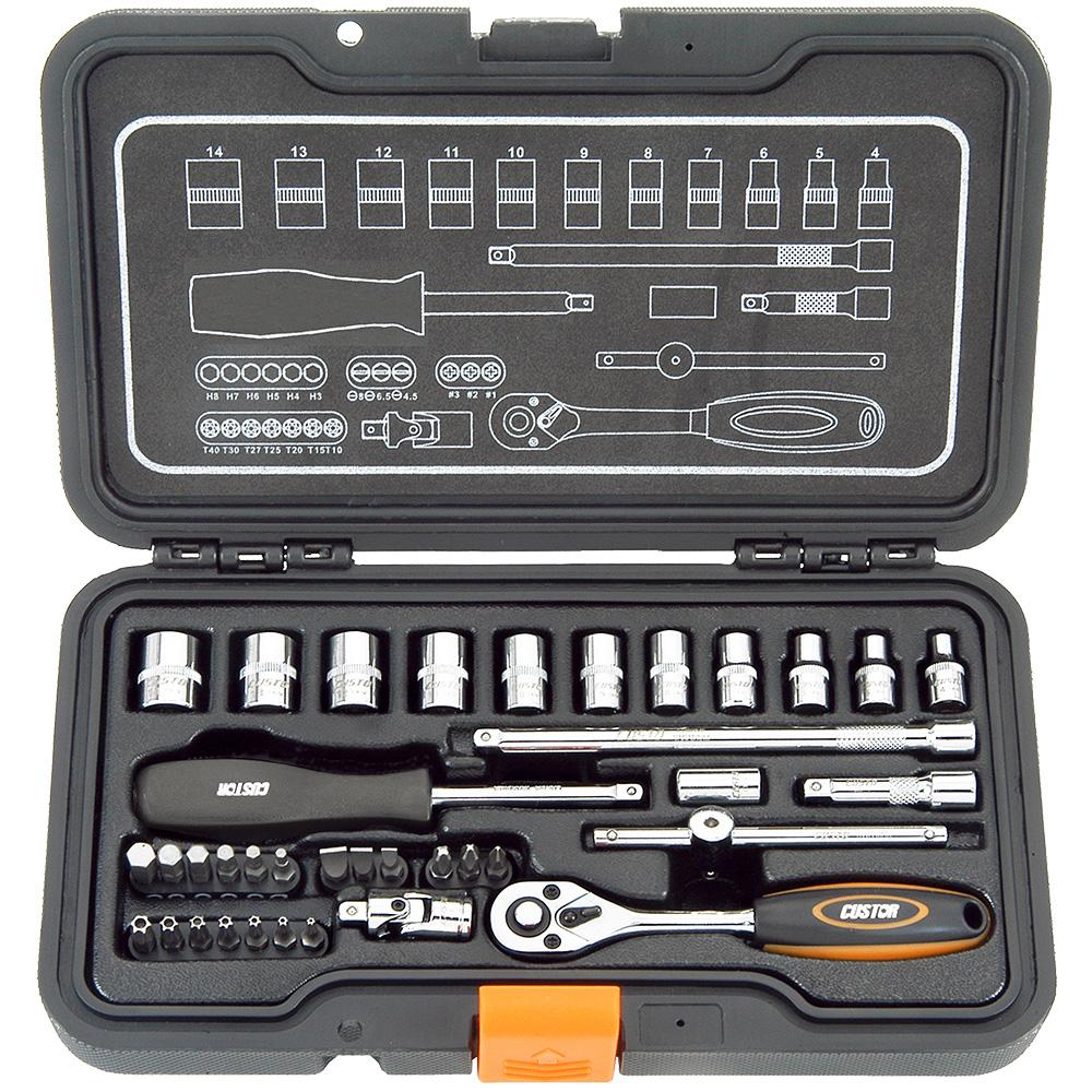 مجموعه 37 عددی آچار بکس کاستور مدل TK-02037K
