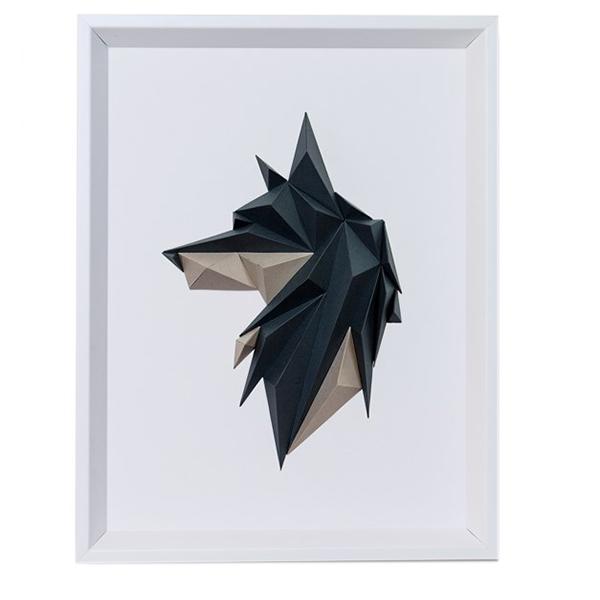 تابلو مقوایی سه بعدی گروه هنری ارژنگ مدل هاسکی کد CR002d