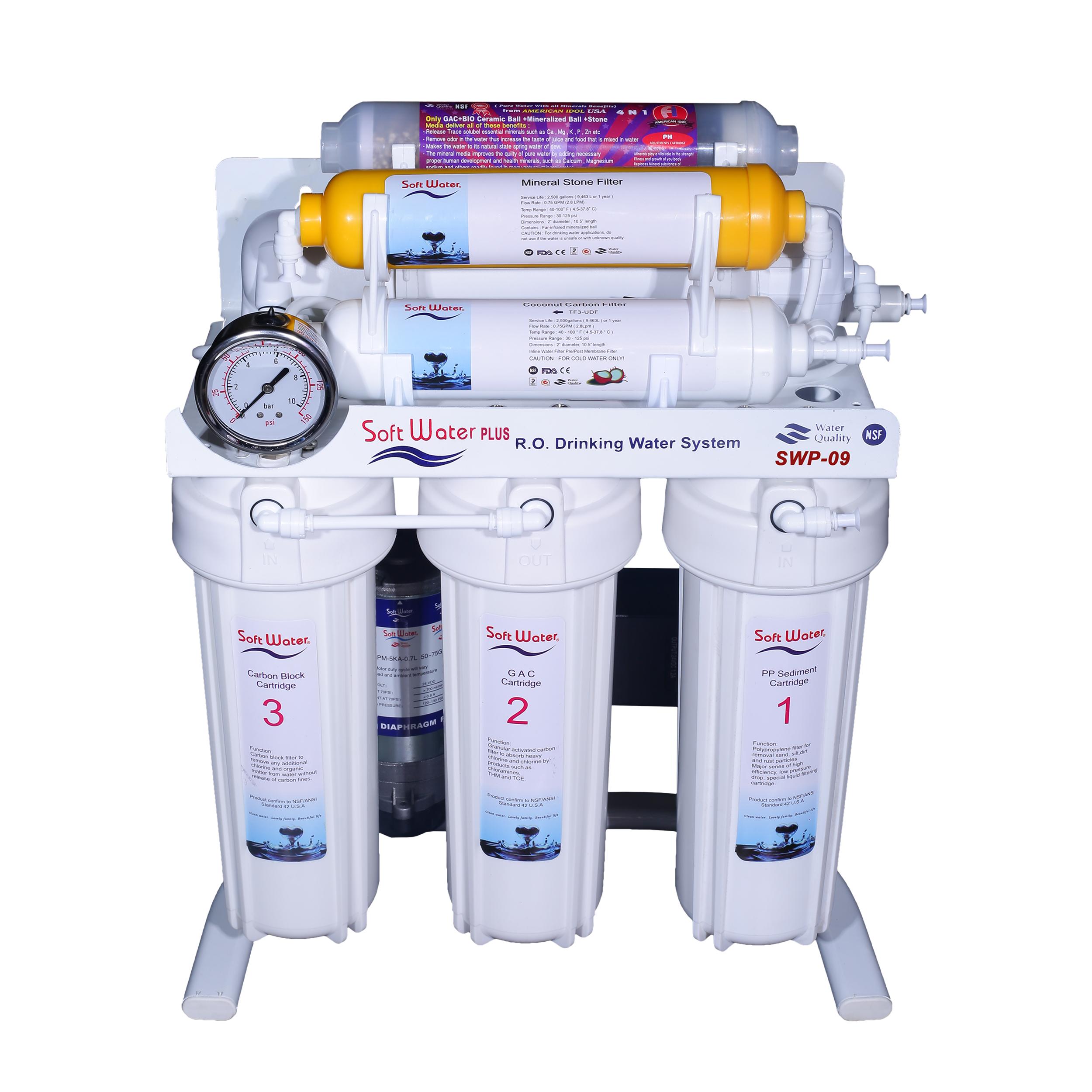 دستگاه تصفیه کننده آب سافت واتر مدل پلاس SWP-09