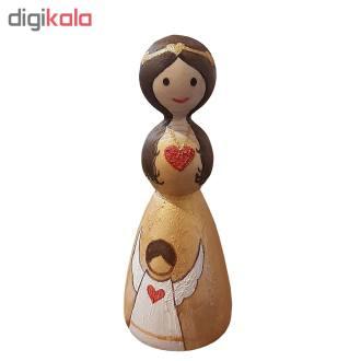 مجسمه چوبی مدل ماری و فرشته