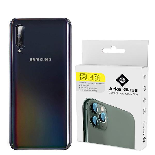 محافظ لنز دوربین آرکا گلس مدل GLA مناسب برای گوشی موبایل سامسونگ GALAXY A50