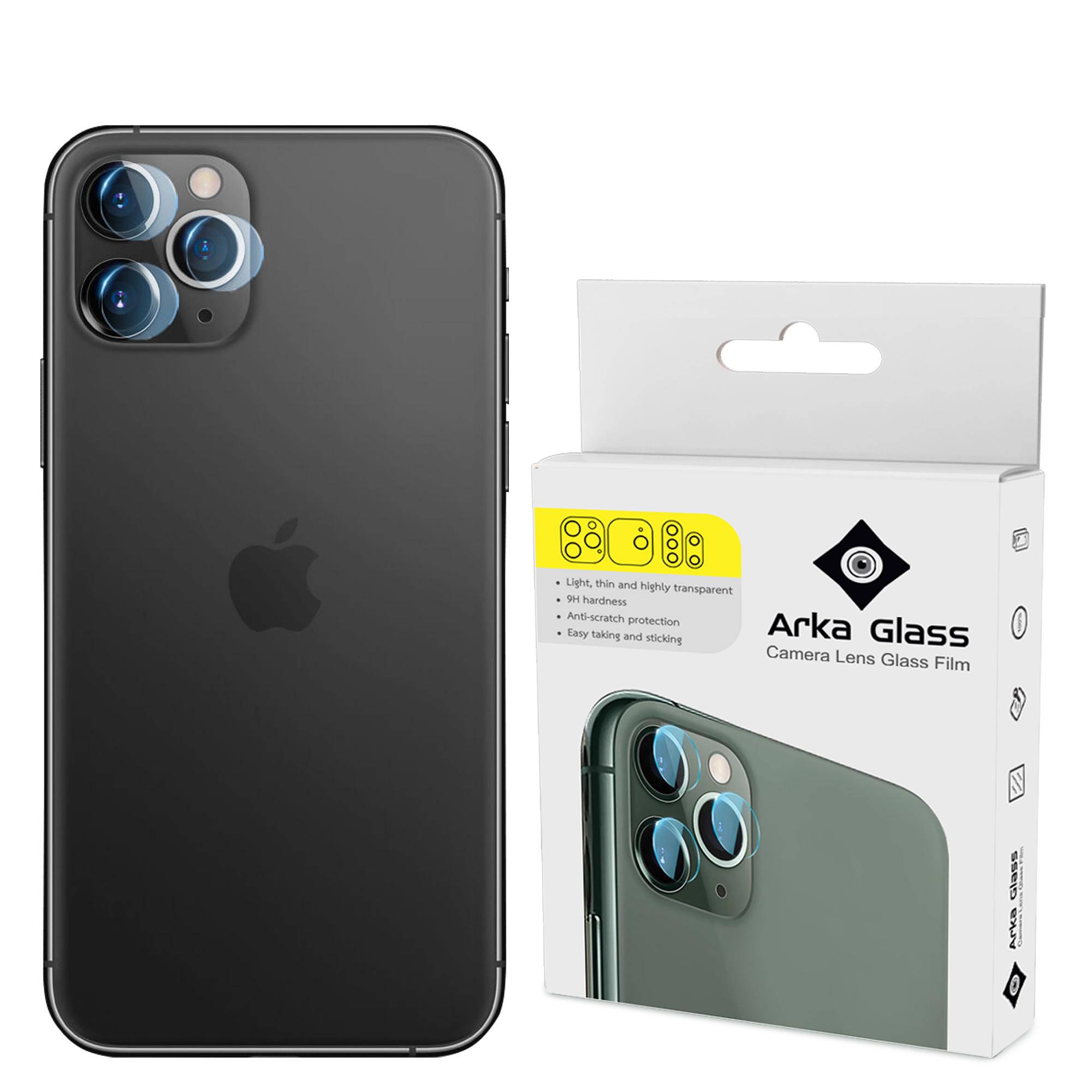 محافظ لنز دوربین آرکا گلس مدل GLA مناسب برای گوشی موبایل اپل IPHONE 11 PRO MAX