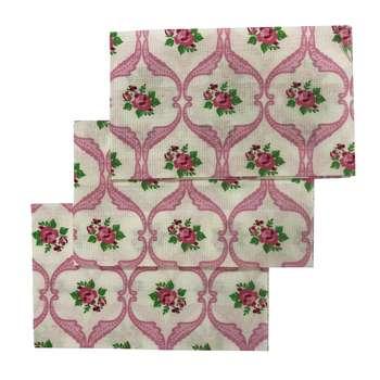 دستمال آشپزخانه طرح گل بسته 3 عددی