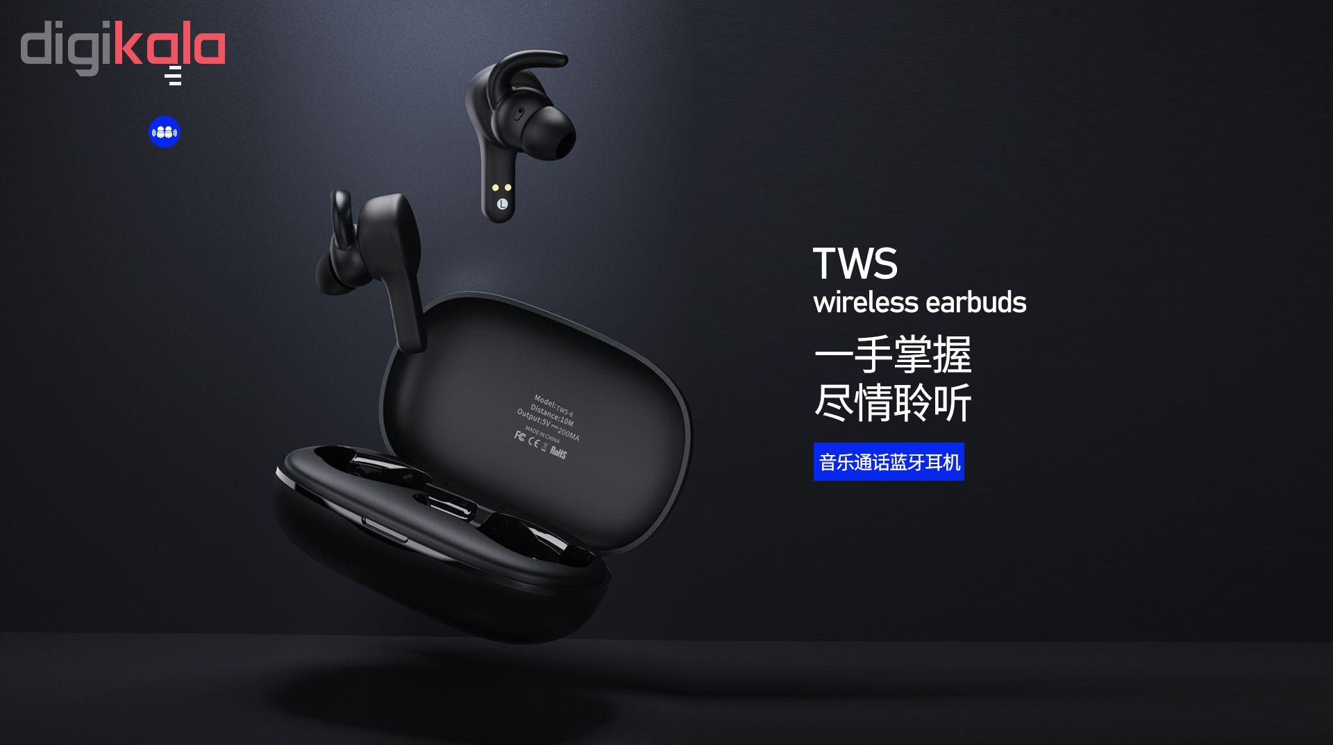 هدفون بی سیم ریمکس مدل TWS-6 main 1 5