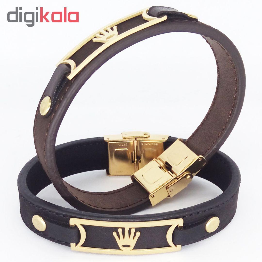 دستبند طرح تاج کد R02 main 1 3