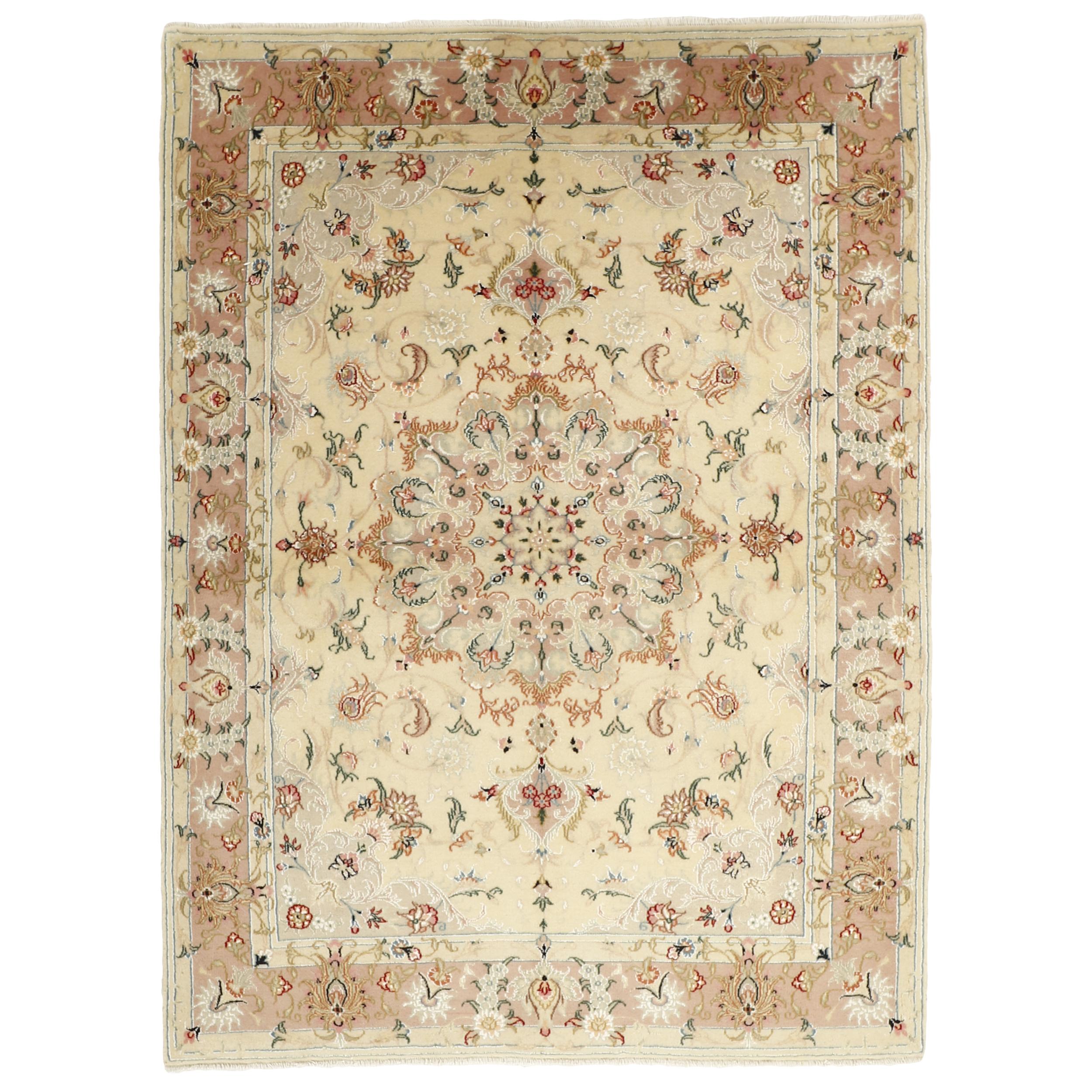 فرش دستبافت سه متری مدل کاشان گل ابریشم کد 503500
