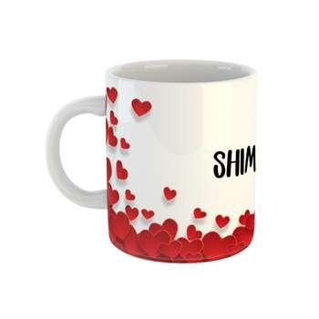 ماگ طرح قلب مدل شیما