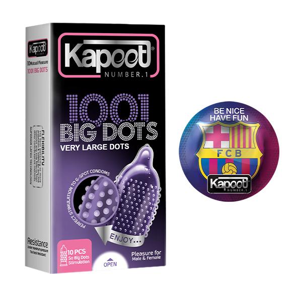 کاندوم کاپوت مدل Big Dots بسته 10 عددی به همراه کاندوم کد 001