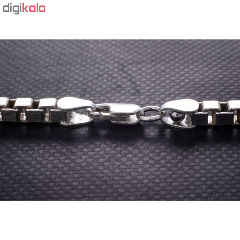 زنجیر نقره مردانه کد 2196