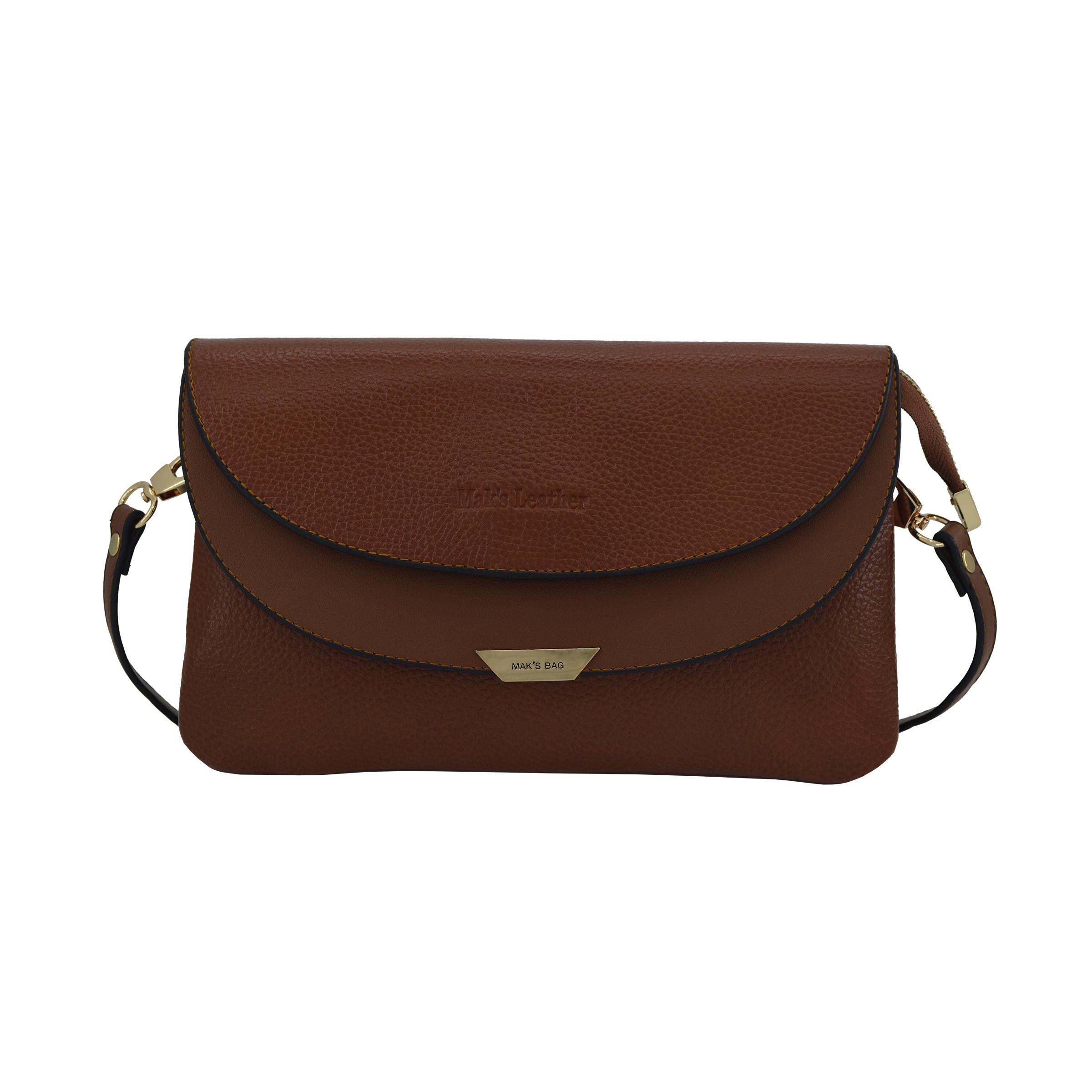 کیف دوشی زنانه چرم مکس مدل آلدورا 10602