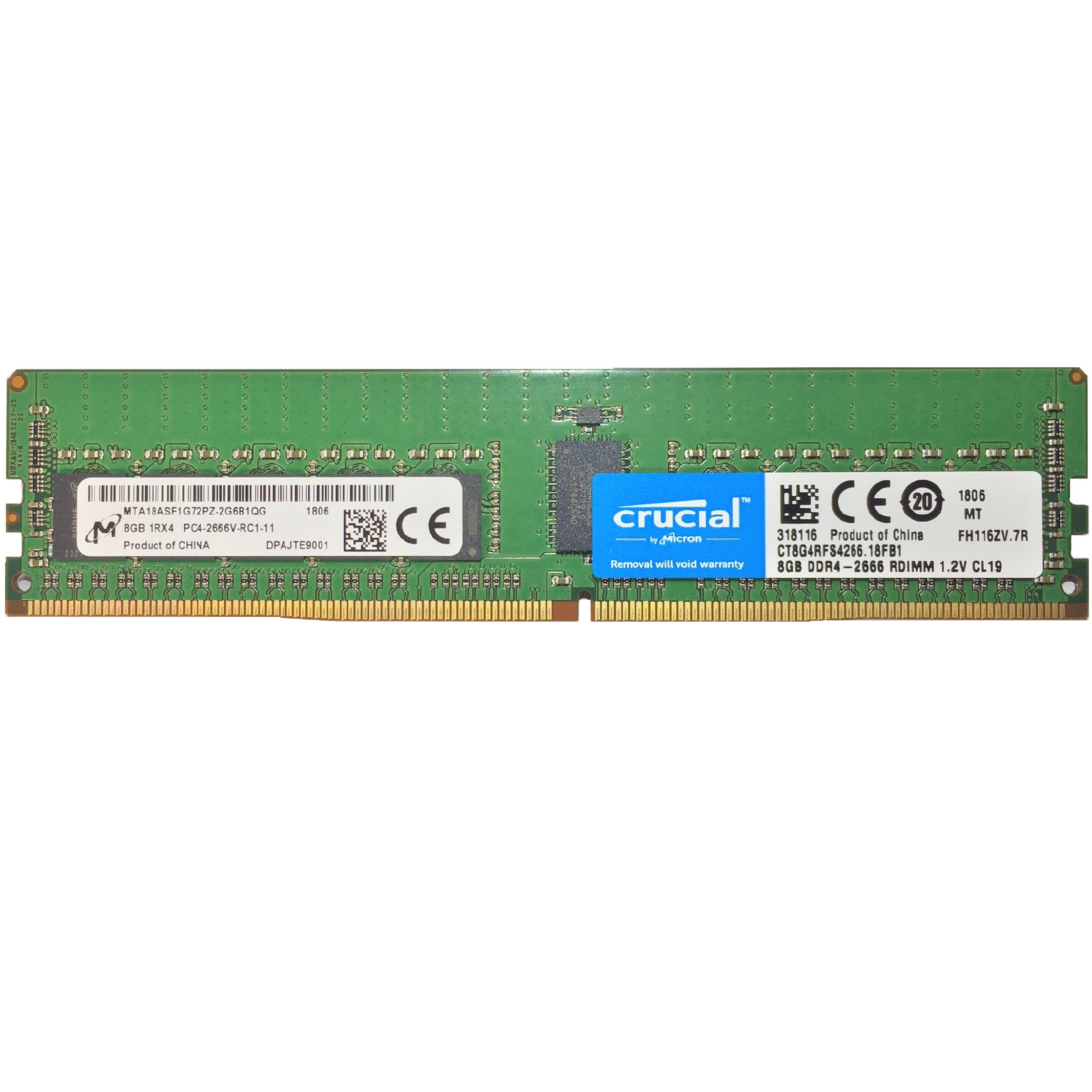 رم سرور DDR4 تک کاناله 2666 مگاهرتز CL19 کروشیال مدل CT8G4RFS4266.18FB1 ظرفیت 8 گیگابایت