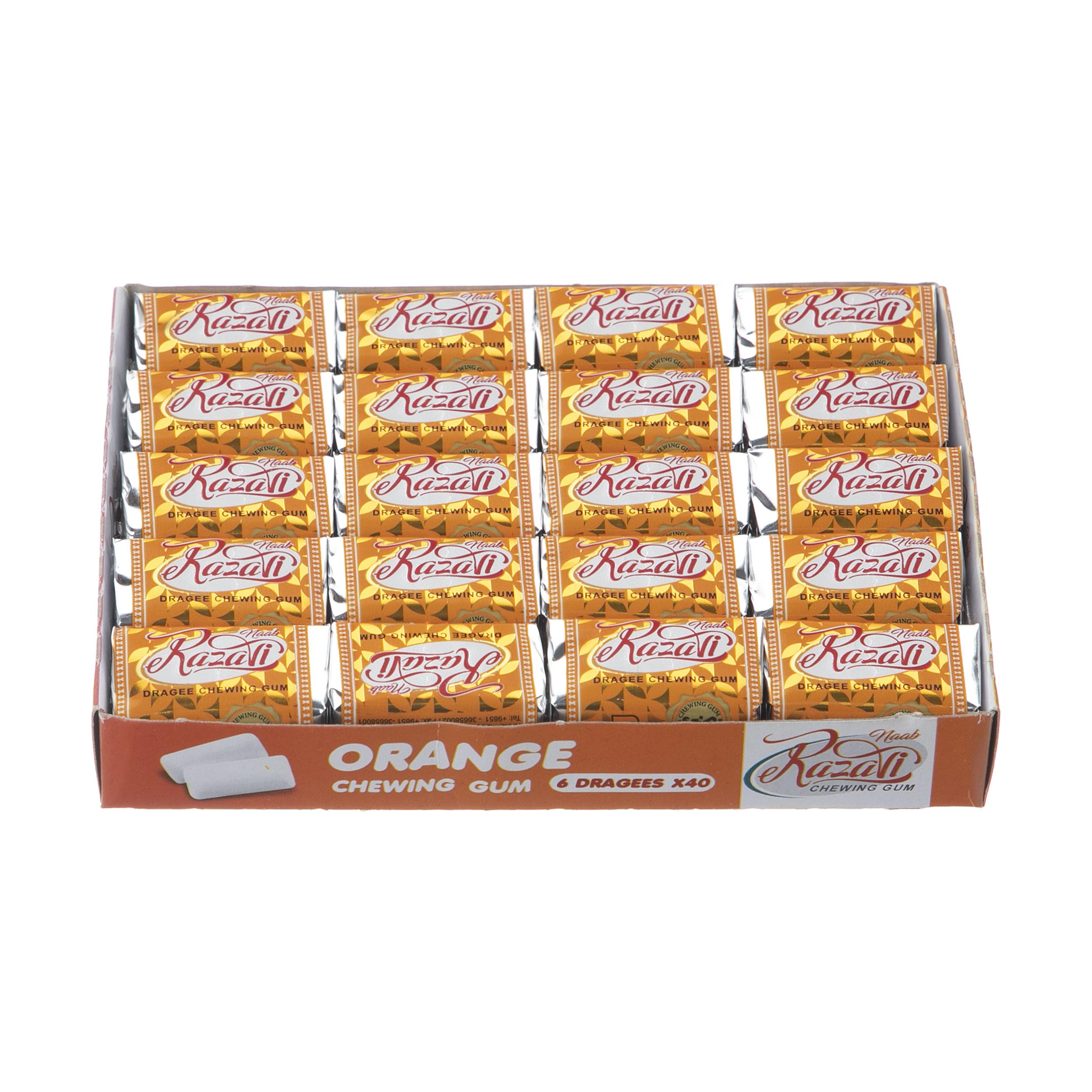 آدامس رضوی با طعم پرتقال بسته 40 عددی