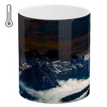 ماگ حرارتی آبنبات رنگی طرح کوه کد ARM0674