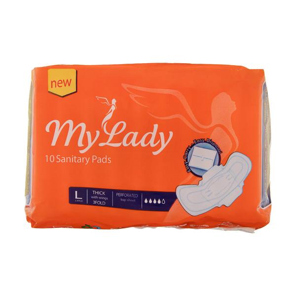 نوار بهداشتی بالدار مای لیدی مدل Maxi سایز بزرگ بسته 10 عددی