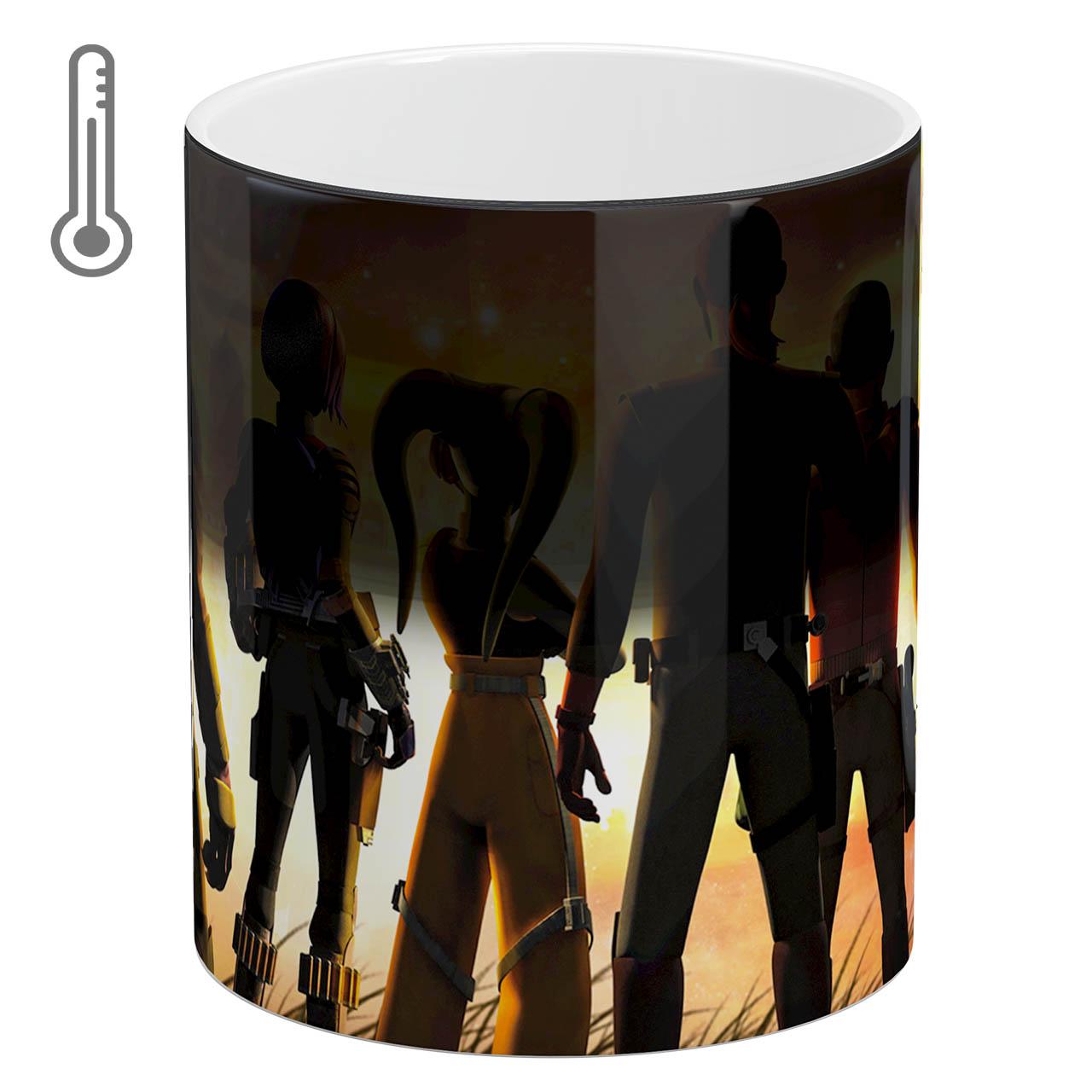 عکس ماگ حرارتی آبنبات رنگی طرح Fortnite کد ARM0701