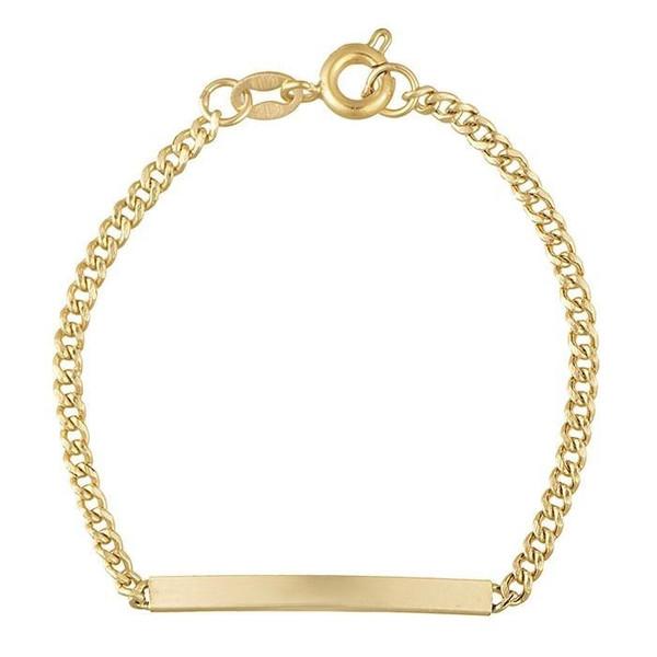 دستبند طلا 18 عیار دخترانه مدل EL01