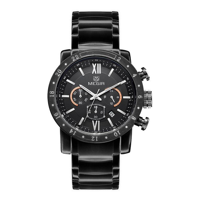 کد تخفیف                                      ساعت مچی عقربه ای مردانه مگیر مدل MS3008GBK-1