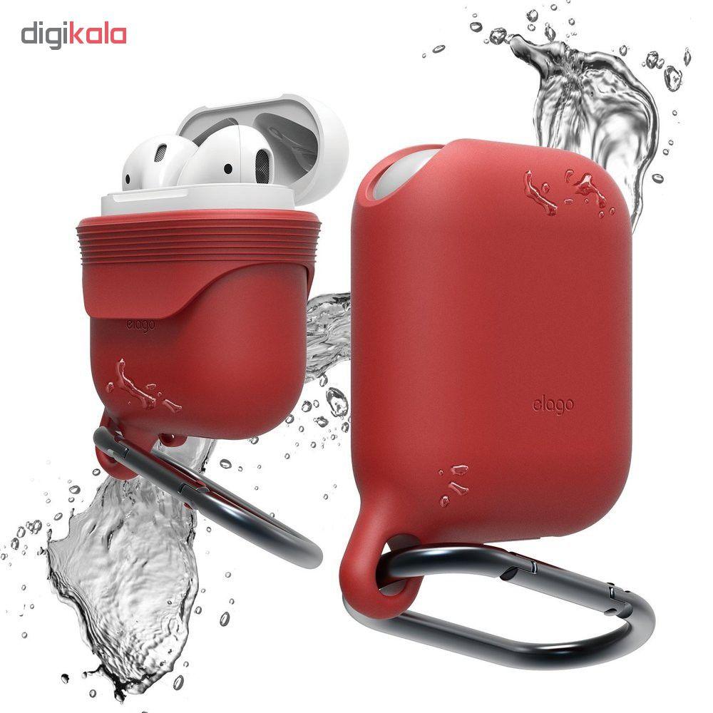 کاور محافظ سیلیکونی ضد آب الاگو مناسب برای کیس اپل AirPods main 1 12