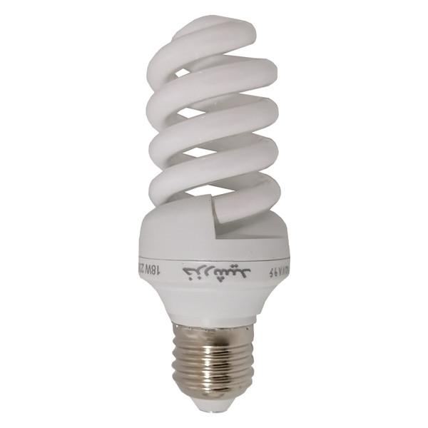 لامپ کم مصرف 18 وات خزرشید مدل KH127 پایه E27