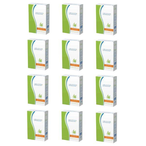 پودر موبر هرمودر مدل Aloevera وزن 50 گرم مجموعه 12 عددی