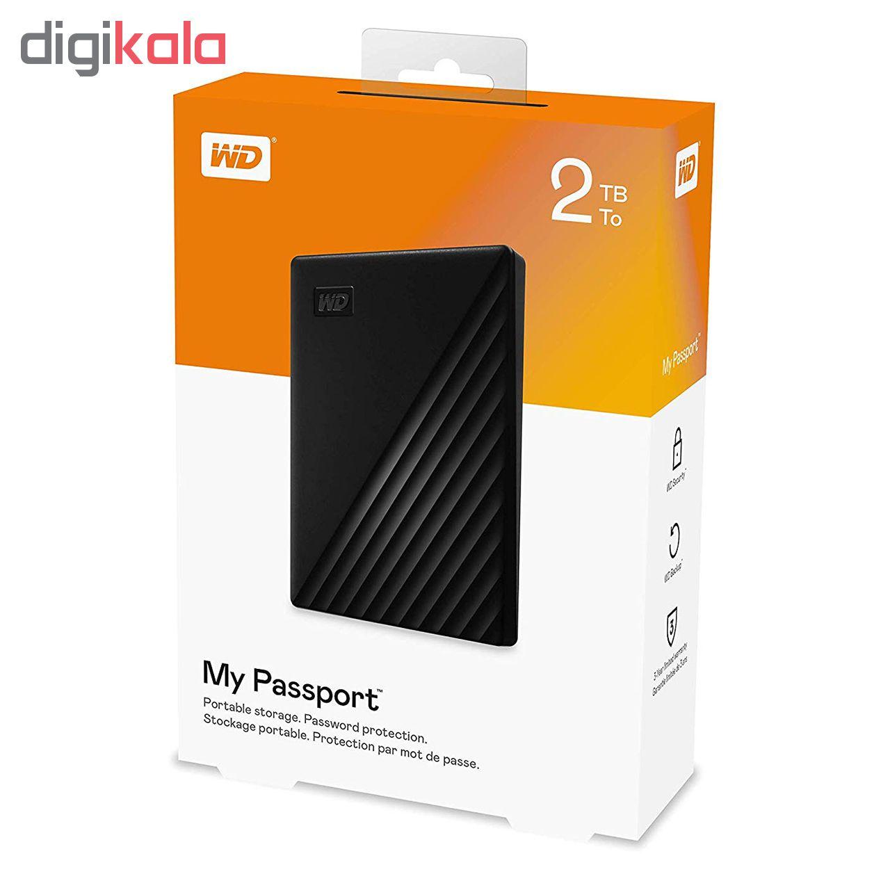 هارد اکسترنال وسترن دیجیتال مدل My Passport ظرفیت 2 ترابایت