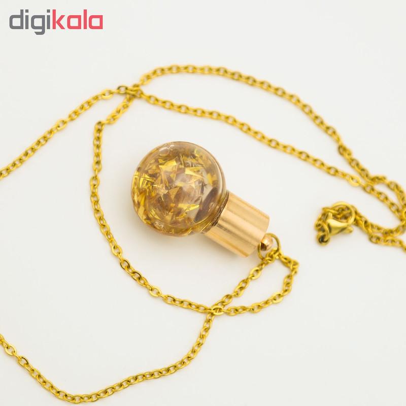 گردنبند طلا 24 عیار زنانه طرح گوی کد 1351