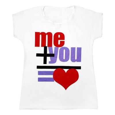 تی شرت زنانه مدل Me Plus You کد 1206