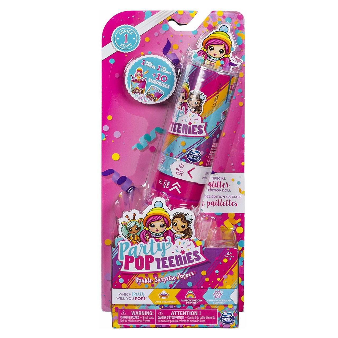 عروسک شانسی اسپین مستر مدل Party Popteenies بسته 2 عددی