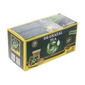 چای سبز کیسه ای دوغزال بسته 25 عددی