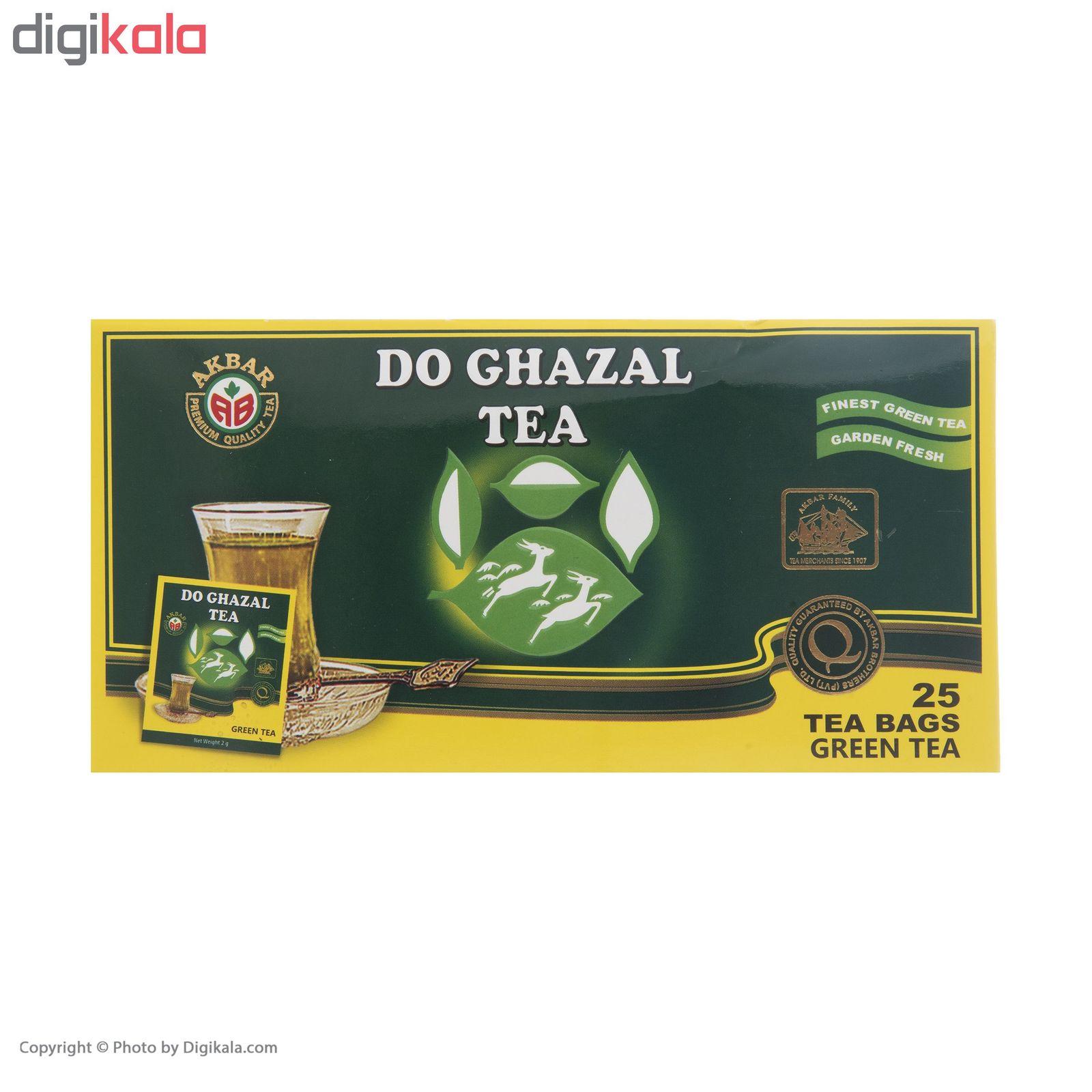 چای سبز کیسه ای دوغزال بسته 25 عددی main 1 4