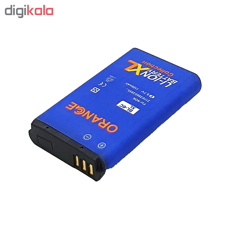 باتری موبایل مدل BL-6C با ظرفیت 1100 میلی آمپر ساعت مناسب برای گوشی موبایل نوکیا E70  main 1 3