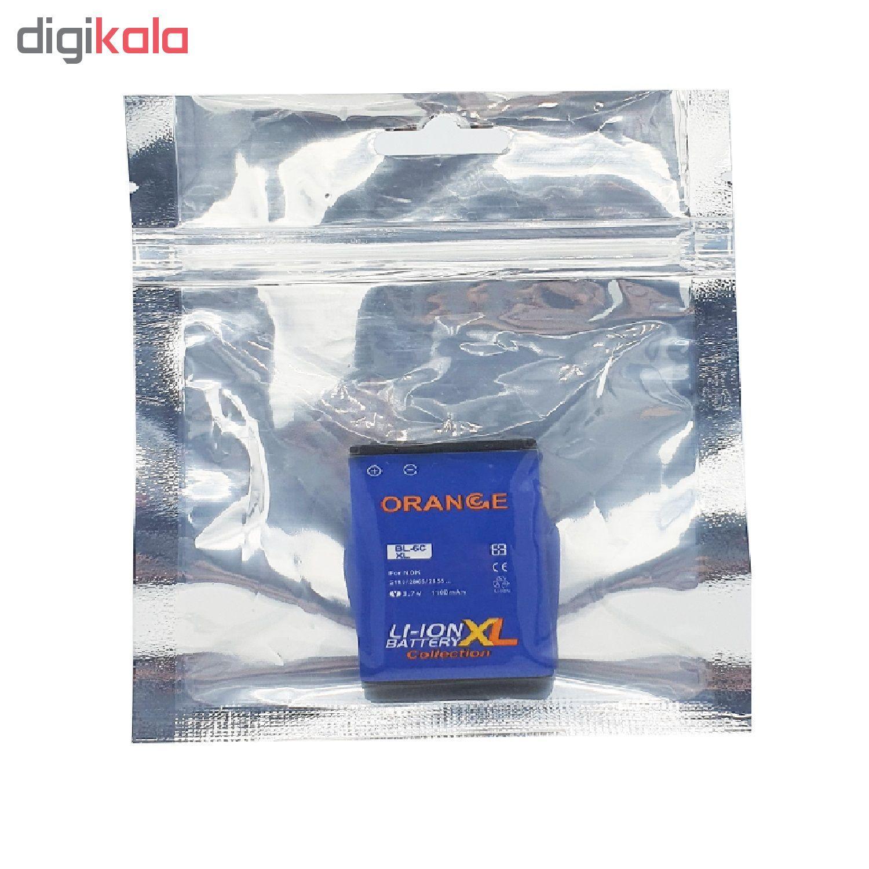 باتری موبایل مدل BL-6C با ظرفیت 1100 میلی آمپر ساعت مناسب برای گوشی موبایل نوکیا E70  main 1 4