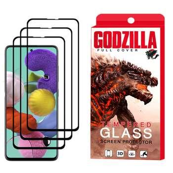 محافظ صفحه نمایش گودزیلا مدل GGF مناسب برای گوشی موبایل سامسونگ Galaxy A51 بسته 3 عددی