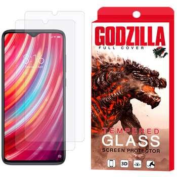 محافظ صفحه نمایش گودزیلا مدل GGS مناسب برای گوشی موبایل شیائومی  Redmi Note 8 Pro بسته 2 عددی