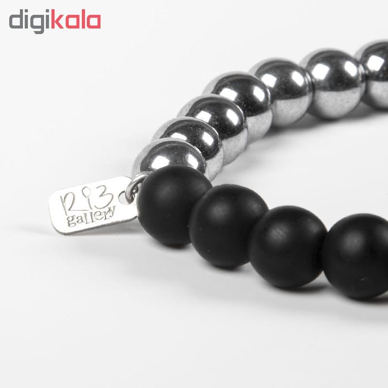 دستبند نقره مردانه ریسه گالری کد H1174