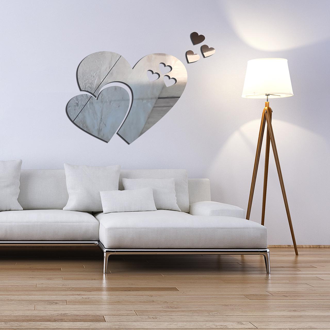 آیینه  طرح قلب کد E01