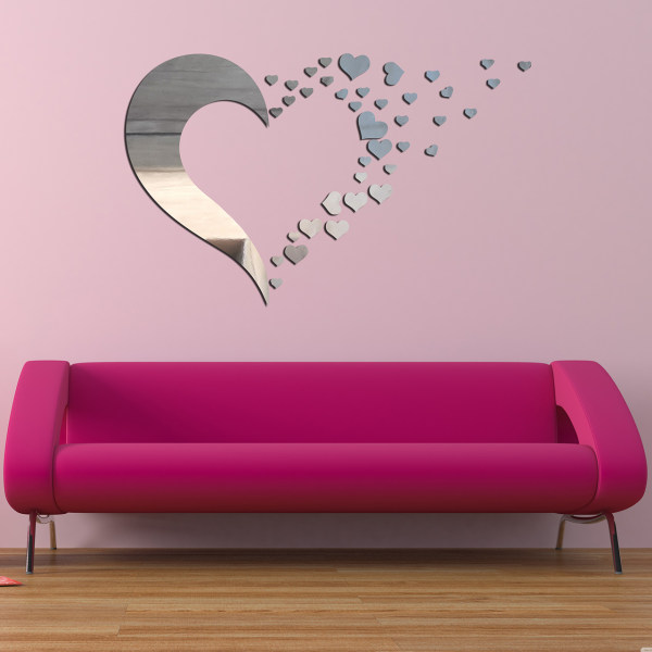 آیینه  طرح قلب کد E02