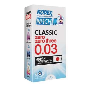 کاندوم ناچ کدکس مدل کلاسیک بسته 12 عددی