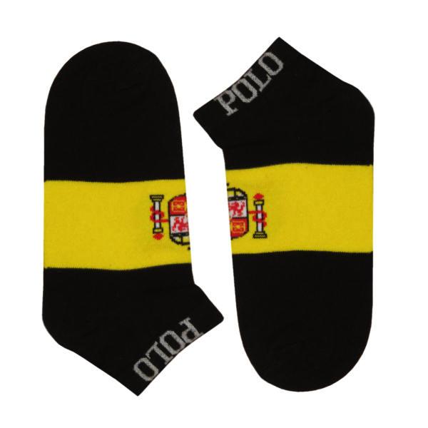 جوراب مردانه طرح پرچم اسپانیا کد 118 رنگ مشکی