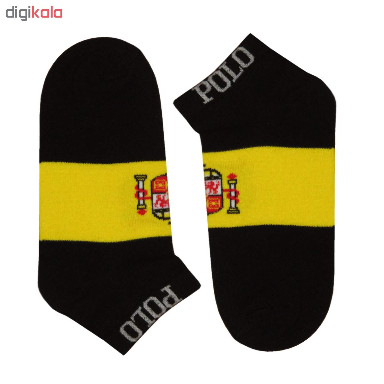 جوراب مردانه طرح پرچم اسپانیا کد 118 رنگ مشکی main 1 1