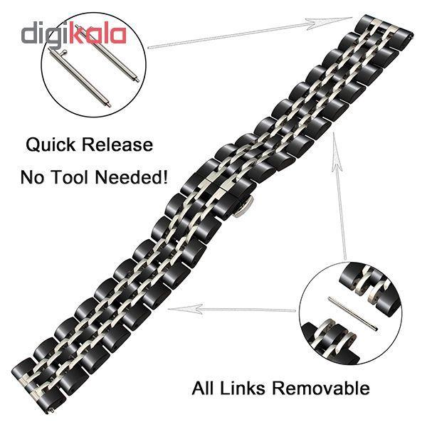 بند مدل LONGINES-7B2C0022 مناسب برای ساعت هوشمند سامسونگ Galaxy Watch 46mm main 1 2